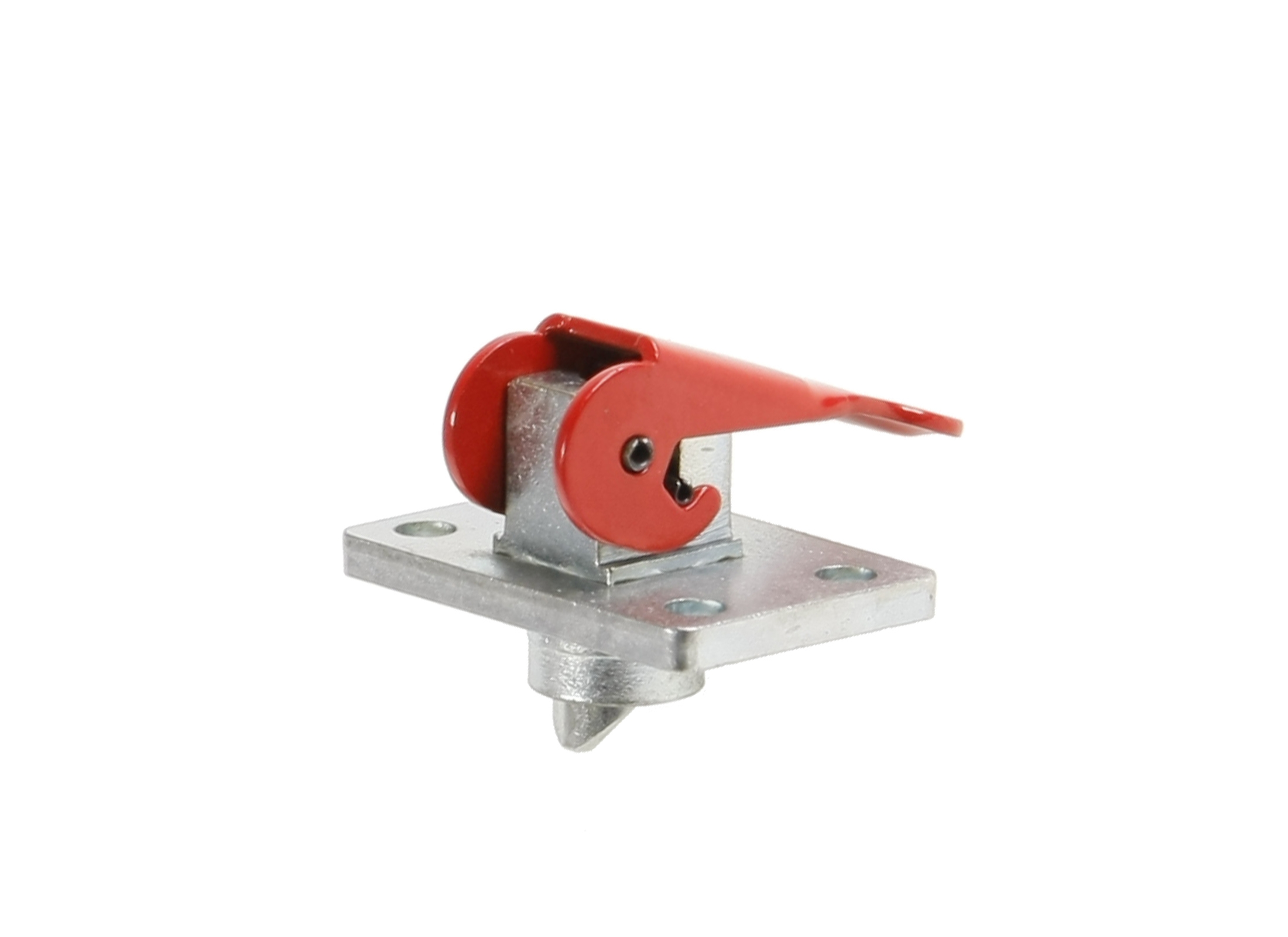 E-VMB Detent Pin 2193, Automatic, Plate 60x40mm, Lever red, Waistband 10mm,  Stud 20mm from Plate, (replaced VMB 2191)