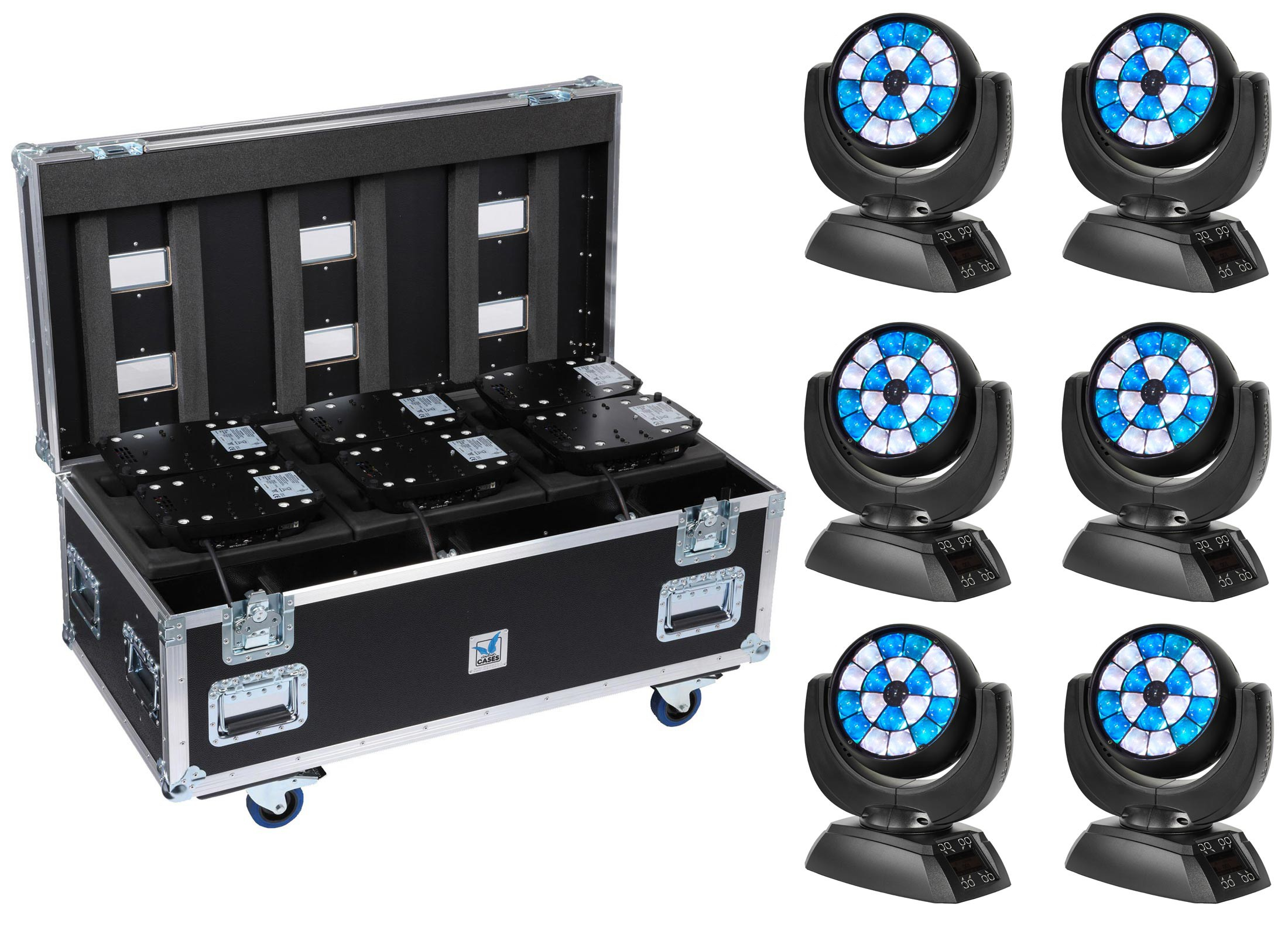 jb lighting sparx 7 led moving head wash 6 set online at. Black Bedroom Furniture Sets. Home Design Ideas