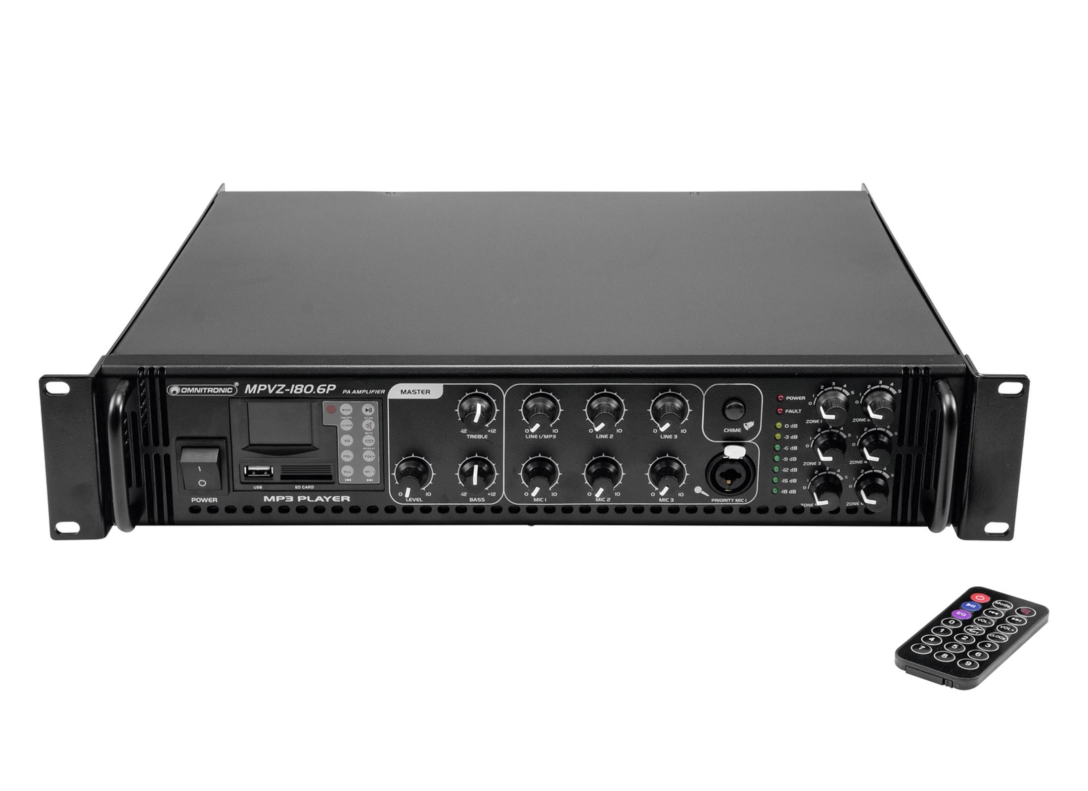 Omnitronic MPVZ-180.6P ELA-Mix-Amplifier ▷ Buy Cheap At Huss Light & Sound