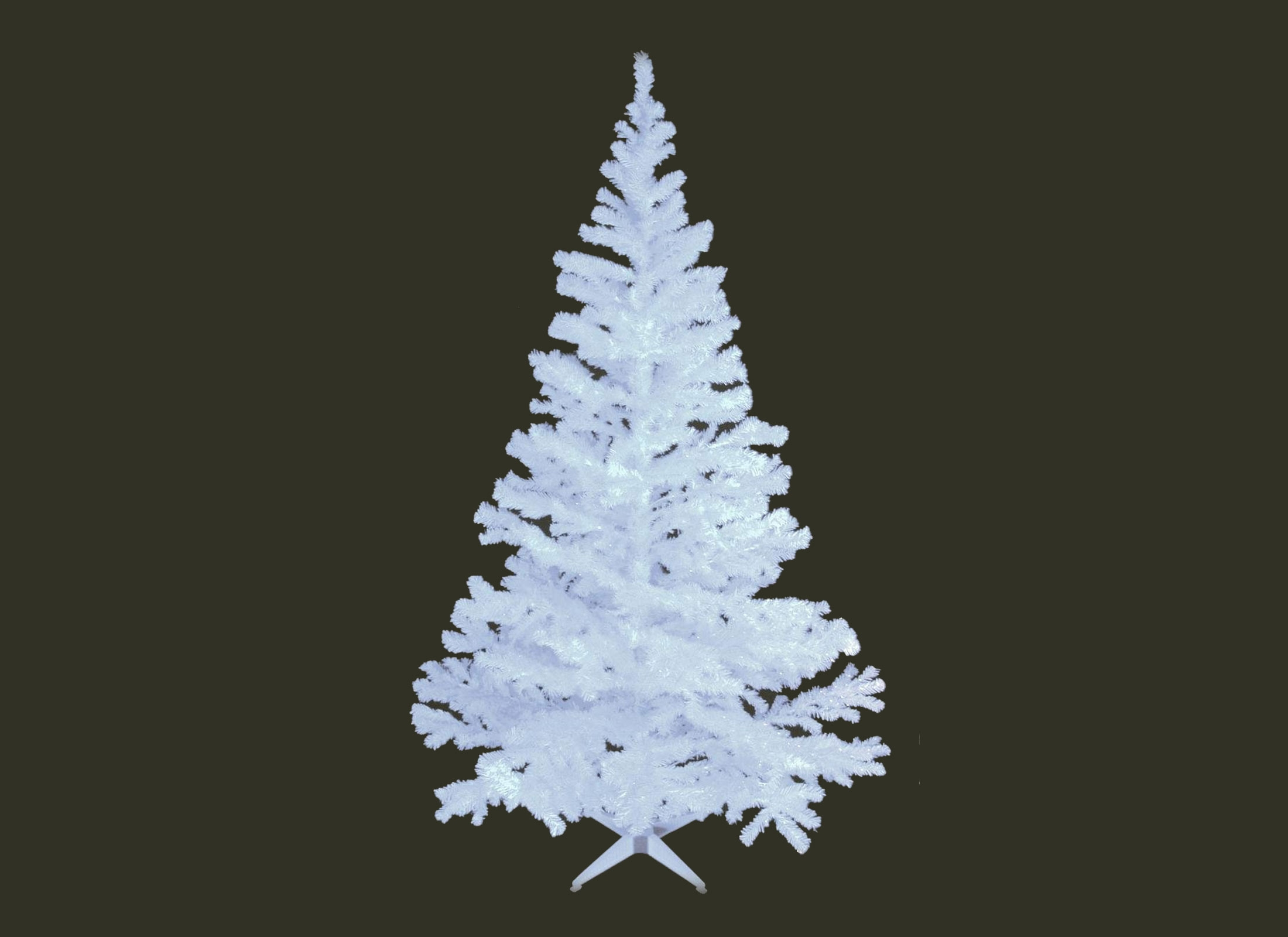Europalms Christmas Tree, UV-white, 210cm, 1114 Branches, analyzable, incl.  Stand, Artificial Plant