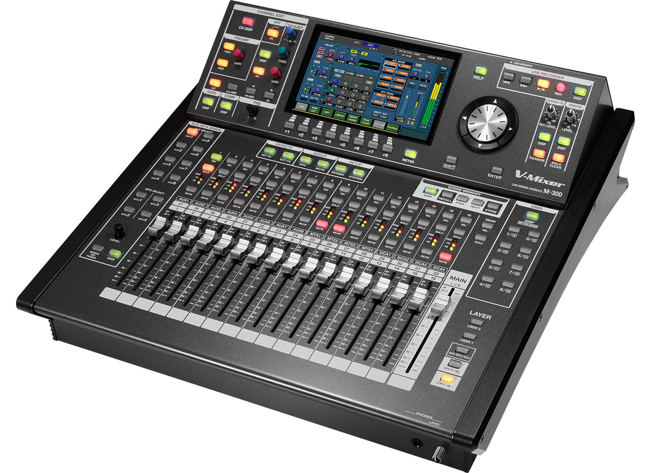 roland m 300 digital audio mixer 32 channel at huss light sound. Black Bedroom Furniture Sets. Home Design Ideas