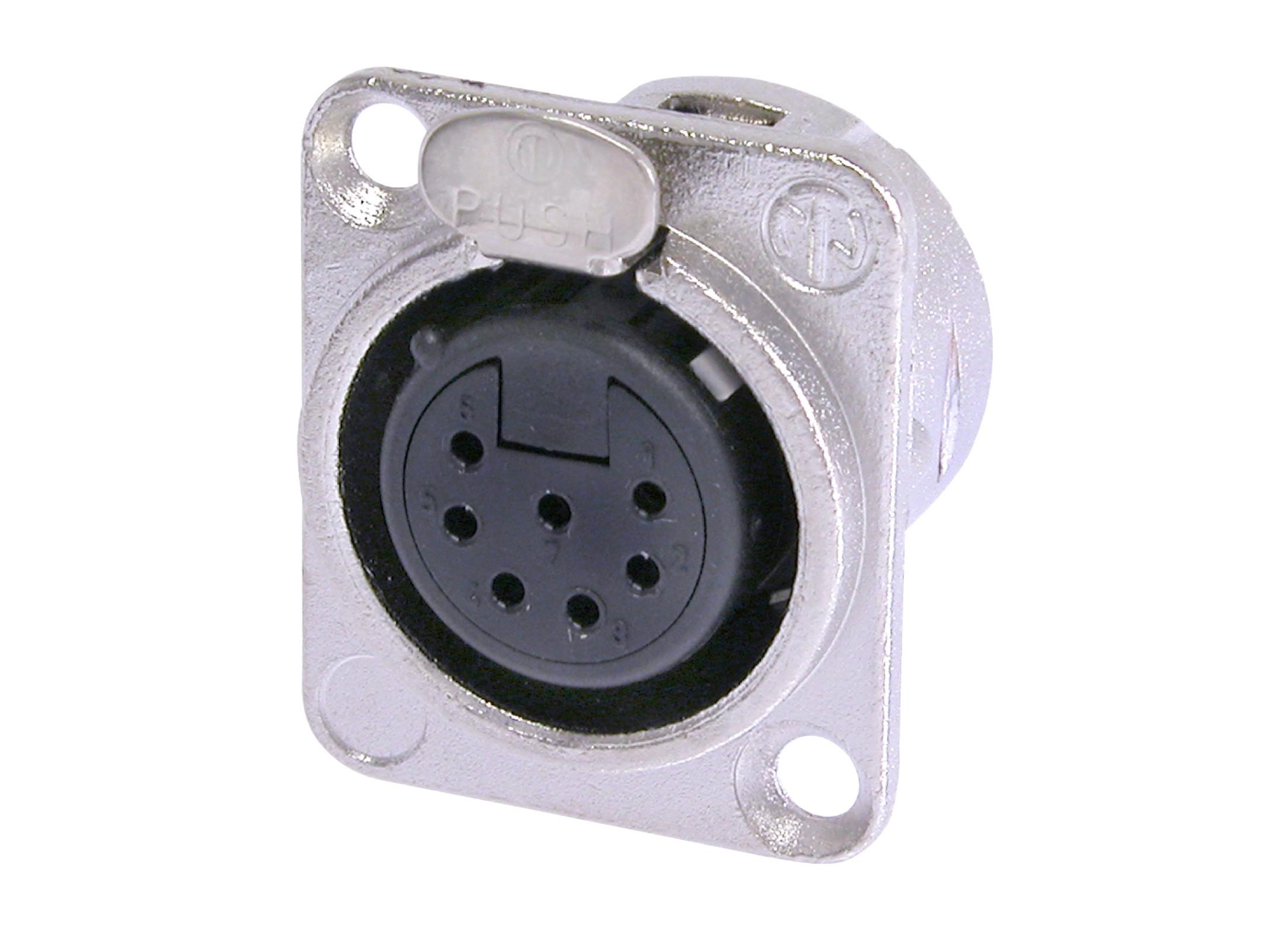 Black XLR Female Connector 3 Pole Neutrik NC3FXX-BAG Silver Plated Contacts