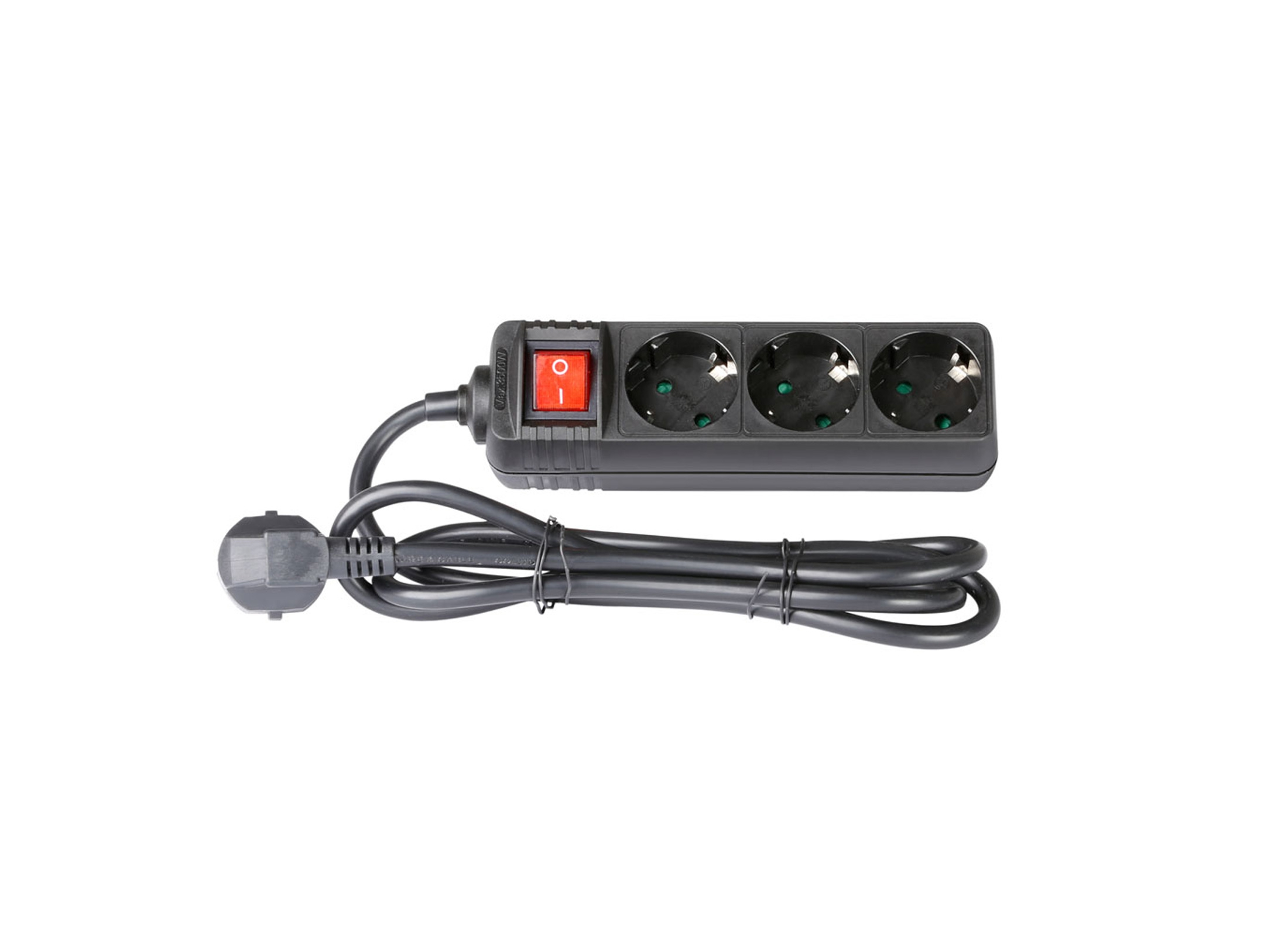 adam hall multi socket power strip with switch black online at low prices at huss light sound. Black Bedroom Furniture Sets. Home Design Ideas