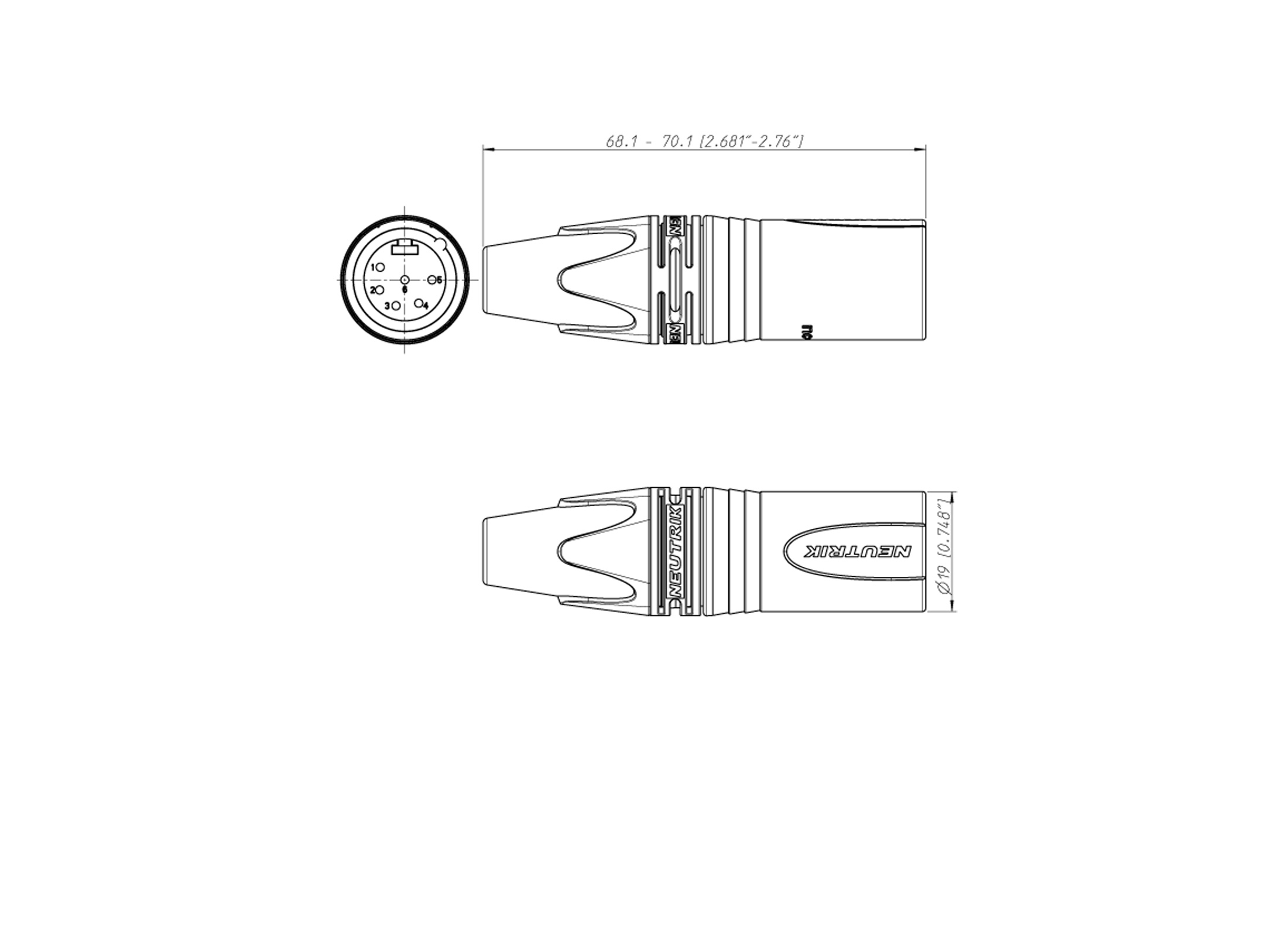 Neutrik Nc6mxx Xlr 6pin Connector Online At Low Prices Huss Light 6 Pin Wiring Diagram 2