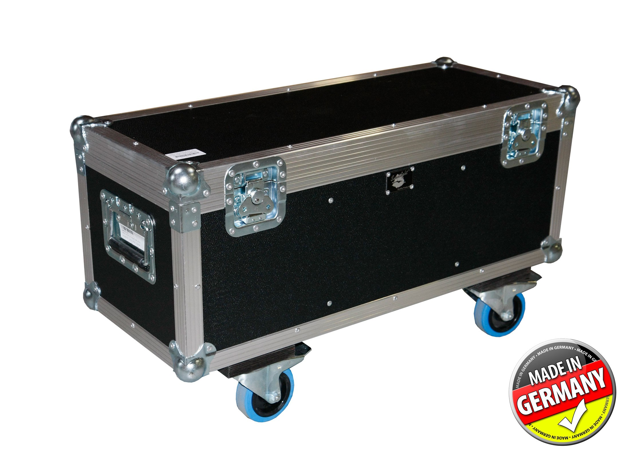Outdoor Truhe.Case Für 2x Cameo Led Tri 12 Outdoor Par Ecoline Pvc Black Chest 4x Blue Wheel 2x Braked 4x Handle Made In Germany