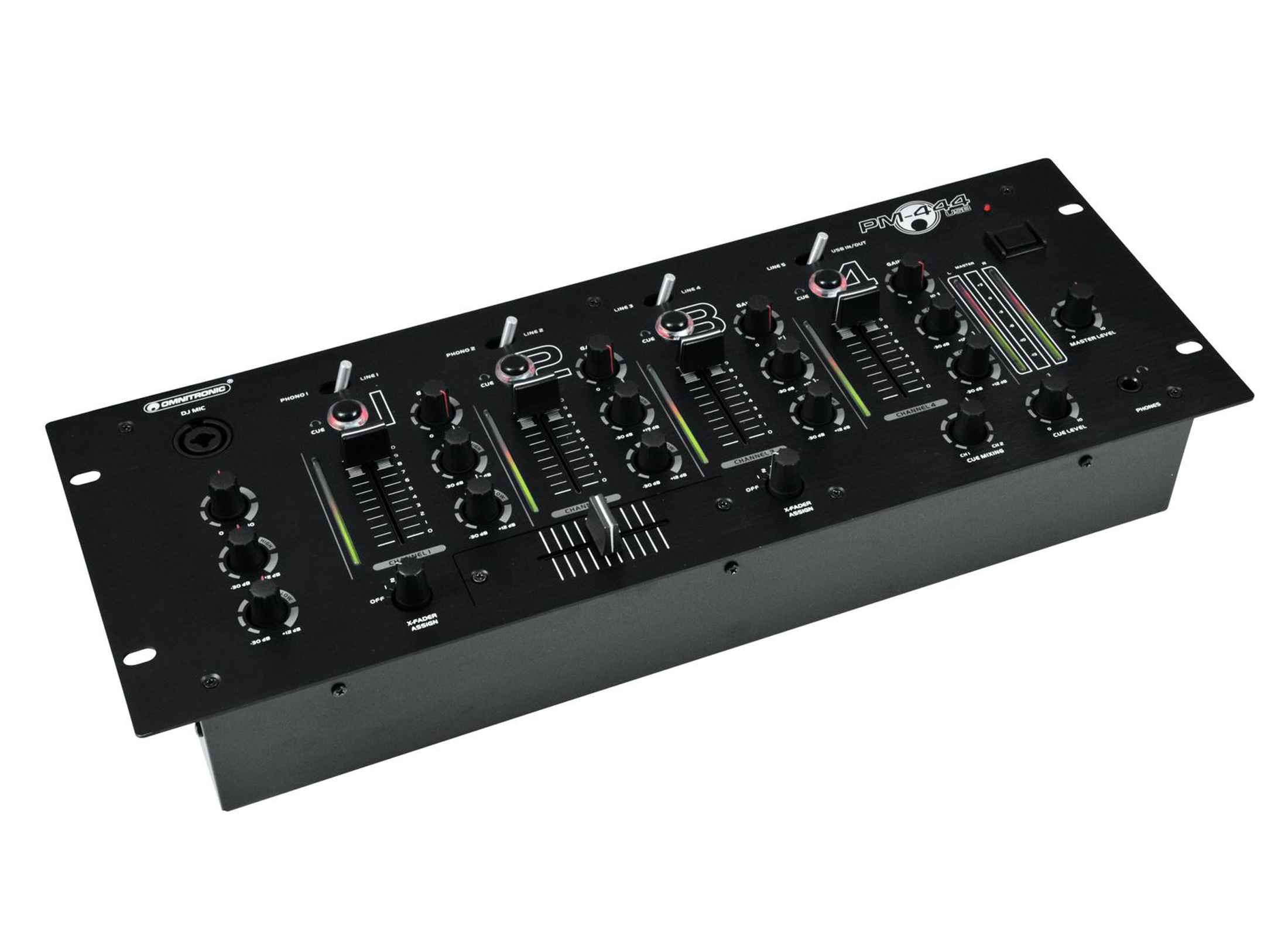 omnitronic pm 444usb dj mixer g nstig online kaufen bei huss licht ton. Black Bedroom Furniture Sets. Home Design Ideas
