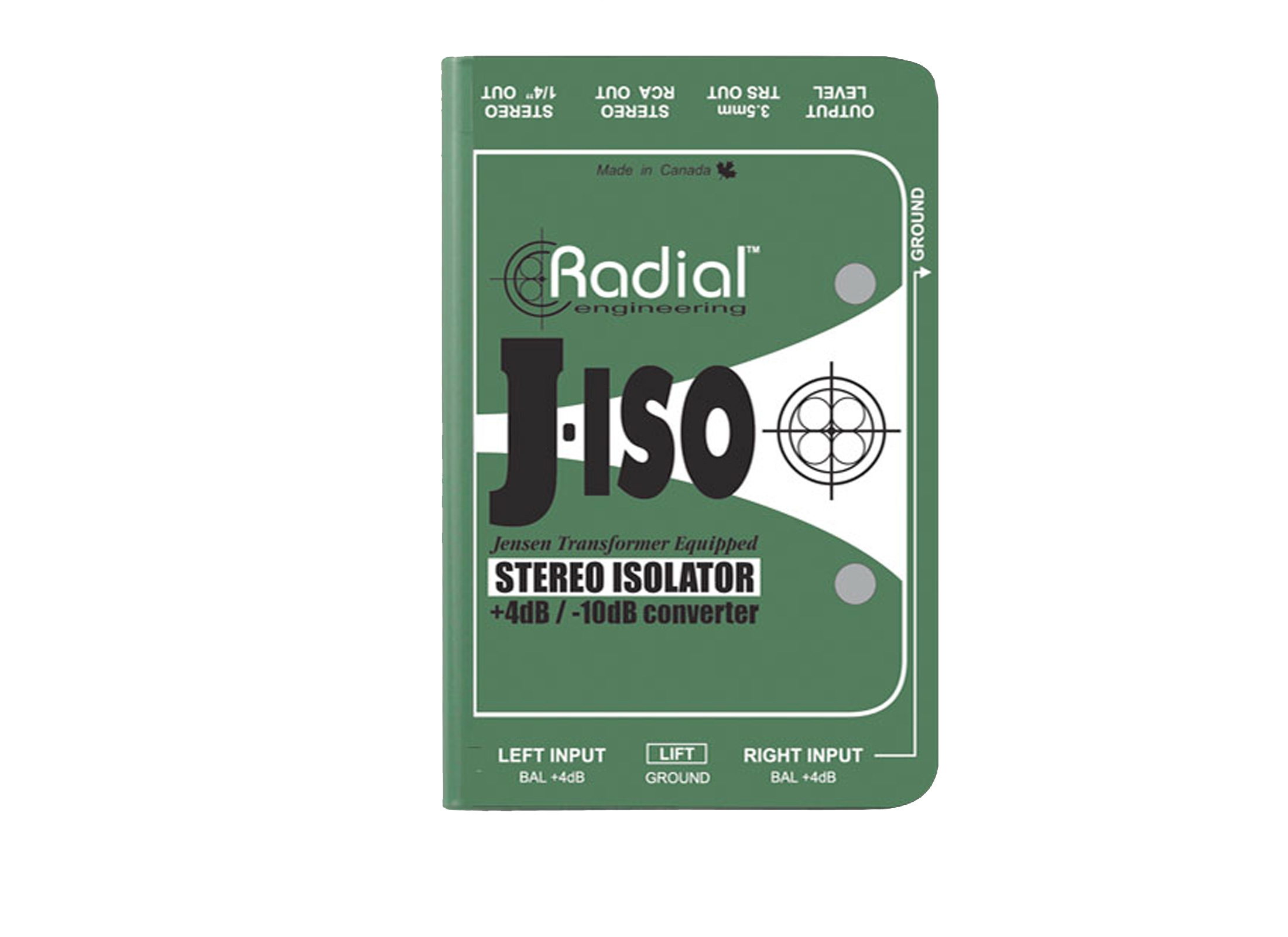 Radial J-Iso Passive DI-Box, Stereo, IN: 2x XLR 3pol, OUT: 2x 6 3mm Jack /  2x Cinch / 3 5mm Jack, Groundlift