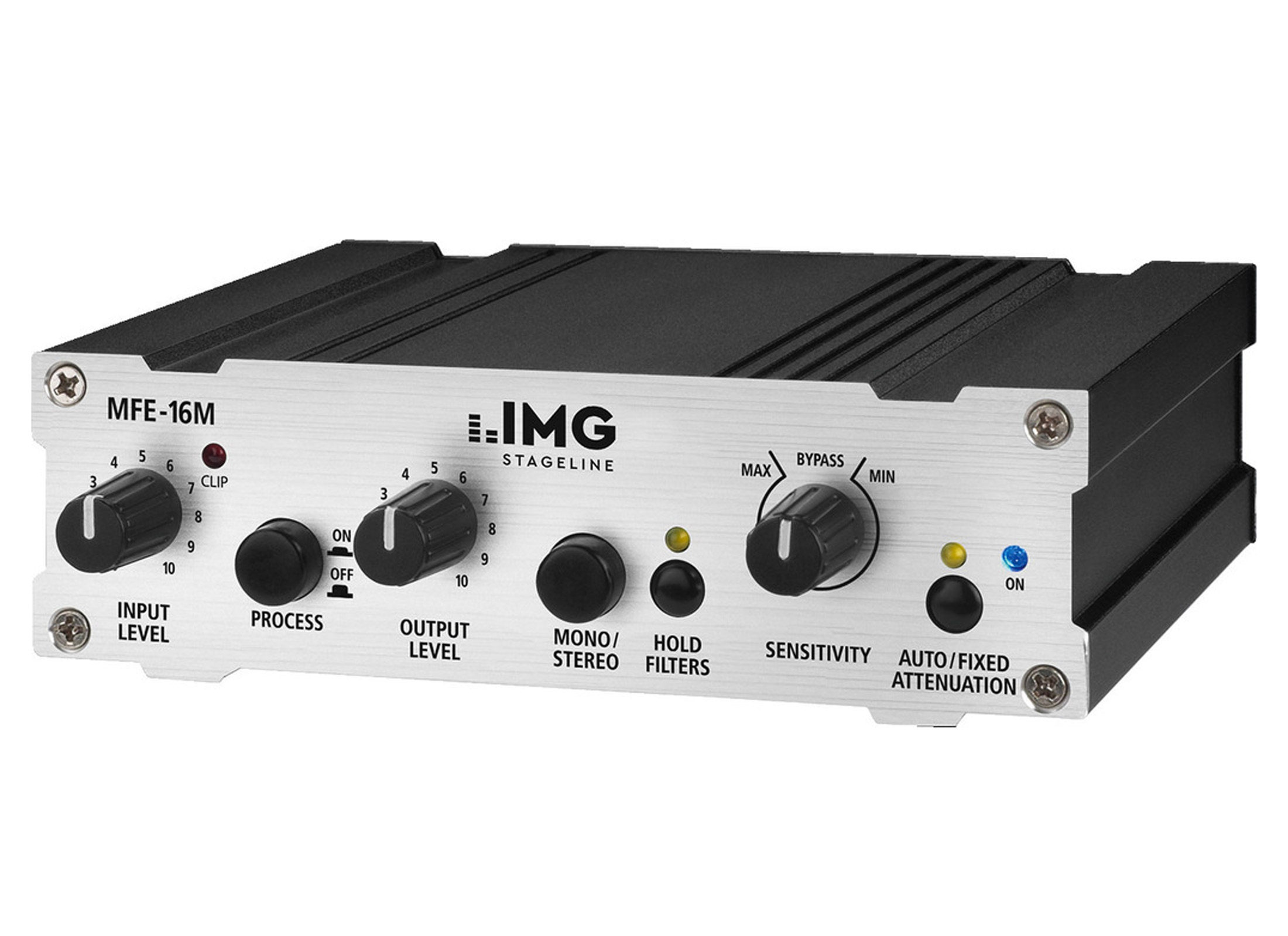 IMG STAGELINE MFE-16M Feedback Controller, 20-Bit Converter IN/OUT: 2x  Jack, incl  power supply