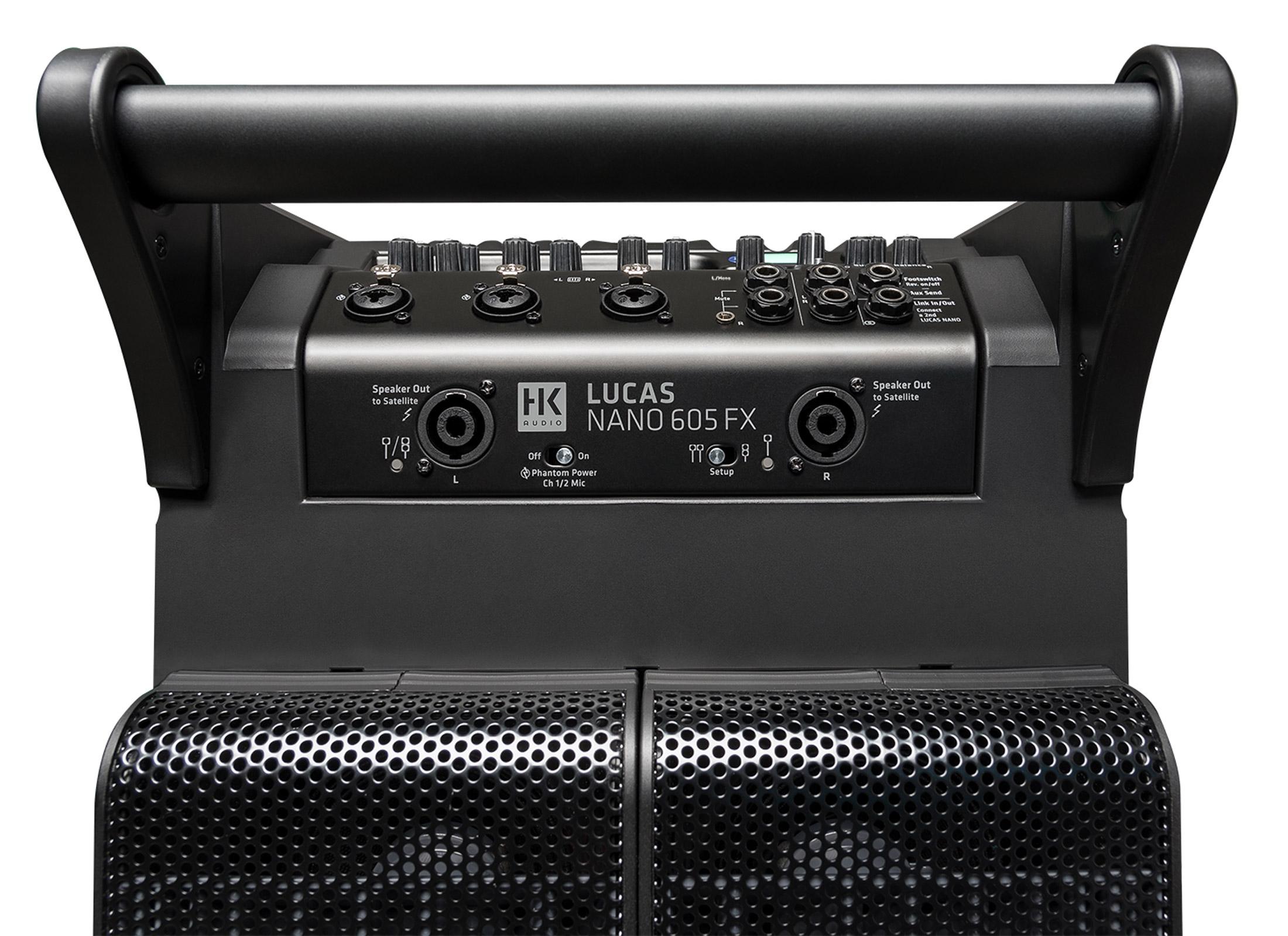 HK Audio Lucas NANO 605 FX Aktiv Sat System 1x Subwoofer 2x