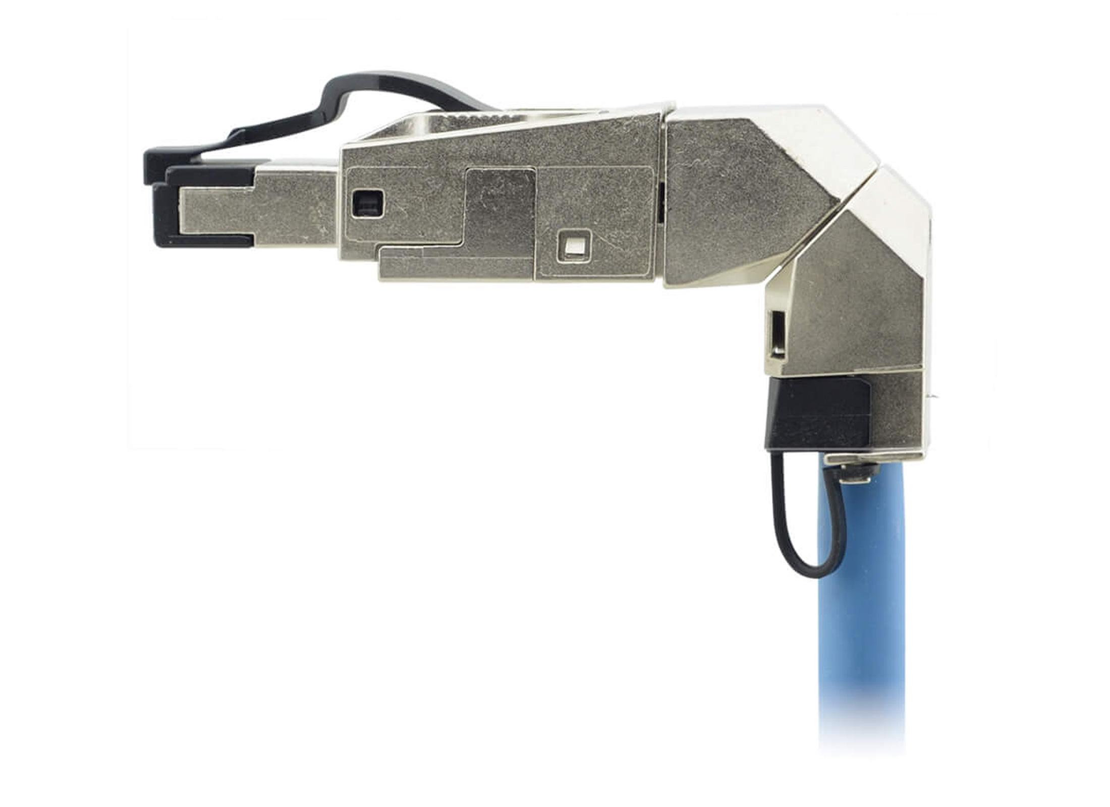 wholesale dealer aa949 07995 Kramer CON-FIELD-360 RJ45 Steckverbinder, grau, ohne Crimpzange montierbar,  Kabelzu.: 360°, für Kabel Ø5.5-10.5mm