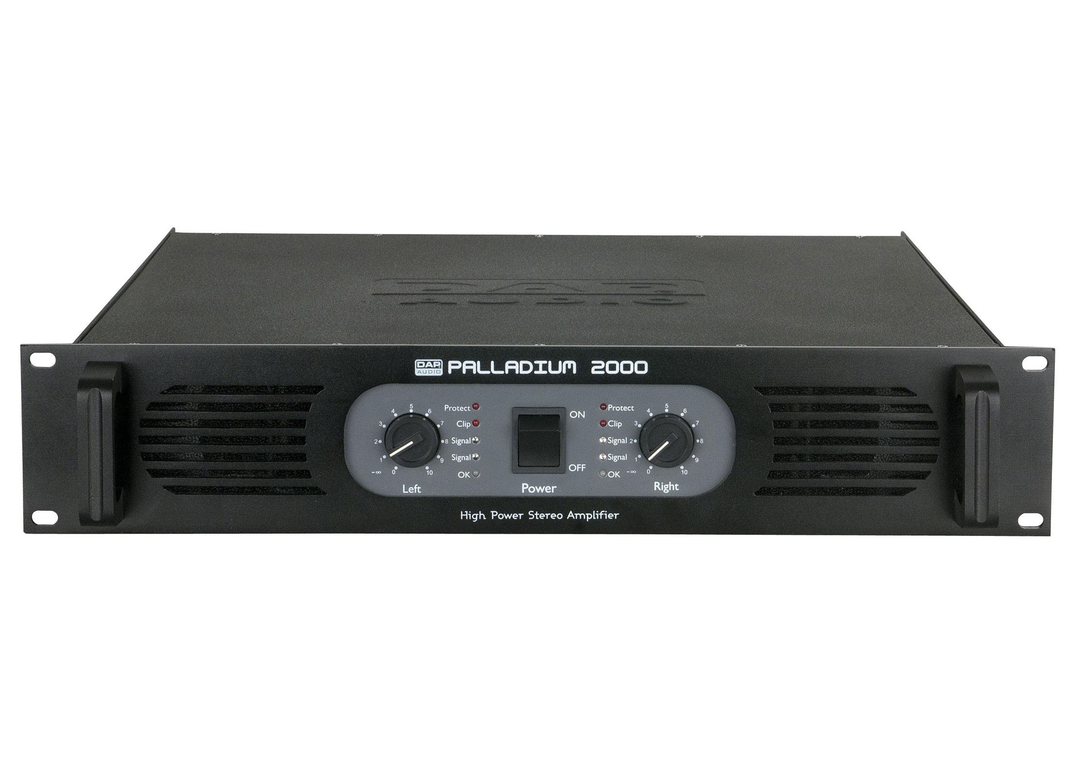 nowy przyjeżdża informacje dla tania wyprzedaż usa DAP Audio Palladium P-2000 Vintage Amplifier, 2x1050W/4Ohms, 2x700W/8Ohms,  19'', In: XLR/Jack, Out: Speakon/Terminal