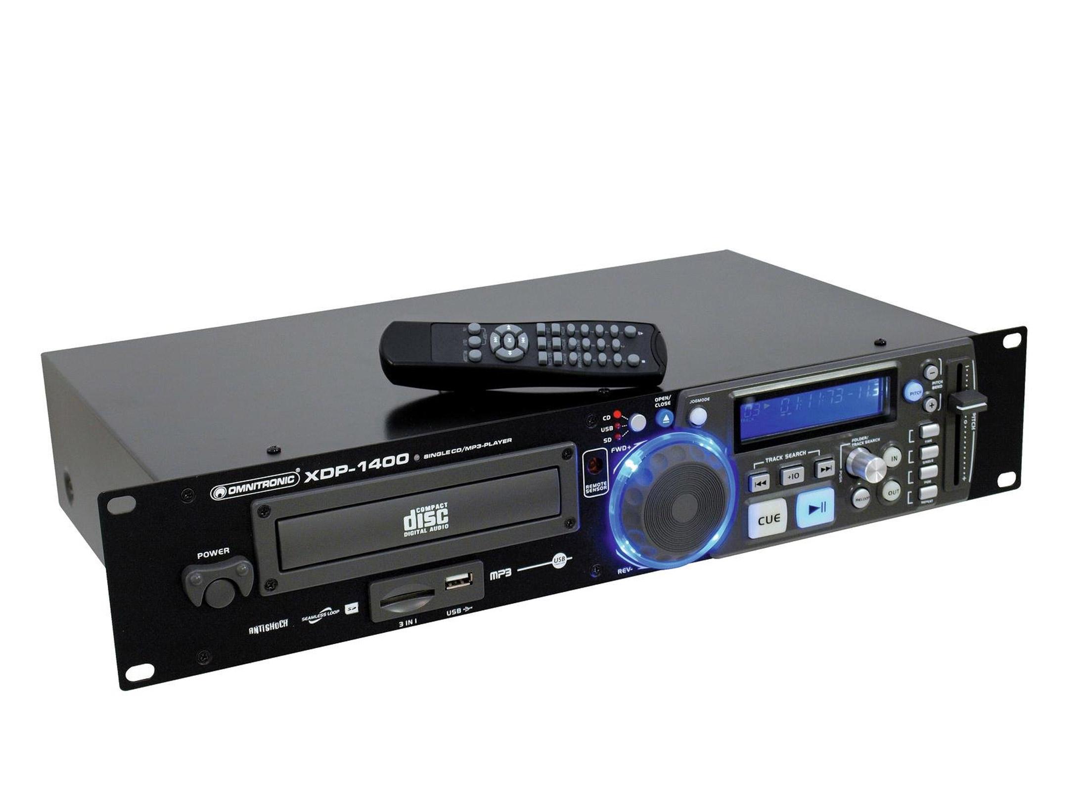 Omnitronic XDP-1400 CD / MP3 Player, 19