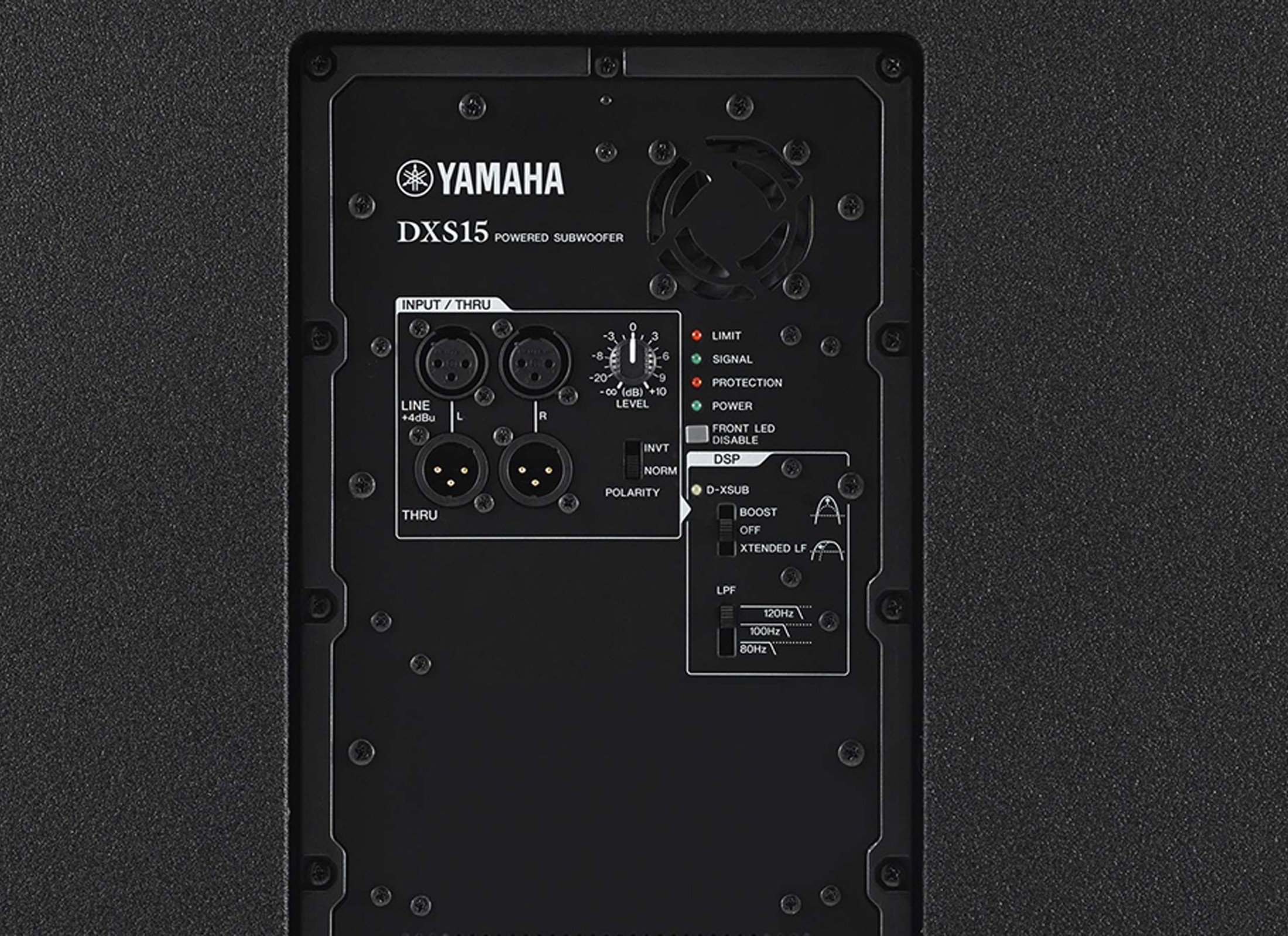 yamaha dxs 15 active subwoofer at huss light sound. Black Bedroom Furniture Sets. Home Design Ideas