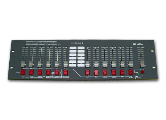 Anytronics Mini Desk Lighting Mixer 12 Channel Dmx512 19 3u Without Power Supply Please Order Separately