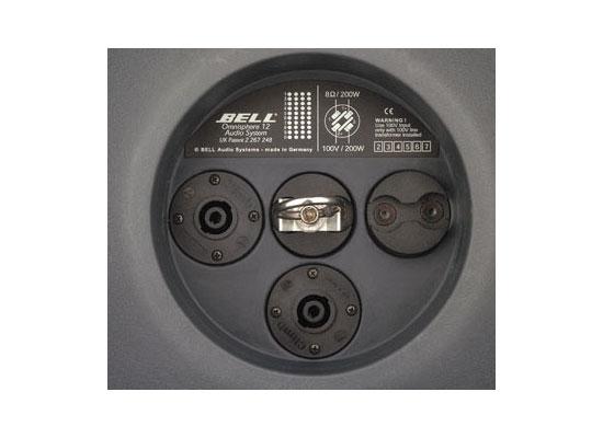Bell OS12 Speaker Passive, Globular, 12u0027u0027, 200W, 8Ohm, 4x Driver, 360 °  X140 °, Plastic Housing, Black