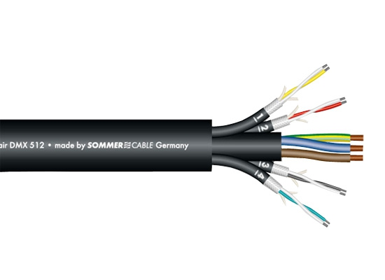 Sommer Cable Monolith 4 DMX Combined Cable Ø18mm, Black Online At ...