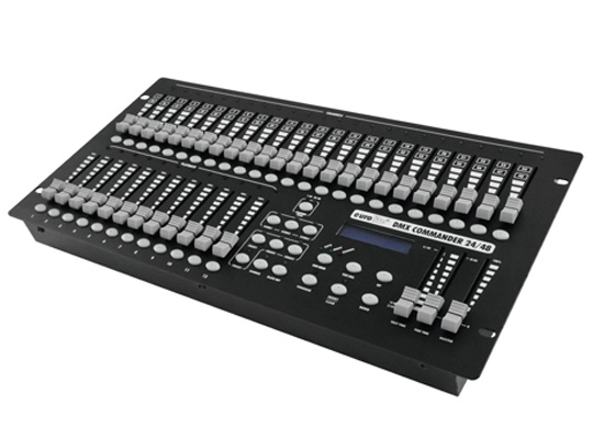 Eurolite LED Commander DMX 24/48 Controller, OUT: XLR 3pol, USB, 48  Channels, Sound to Light, incl  Power Supply 9V