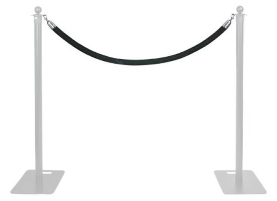 Wentex Pipes & Drapes Barrier Rope, black, Rope Lenght: 1 45m, Diameter:  40mm