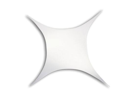 Wentex 4-Punkt Rechteck Segel, weiß, 3.75x2.50m