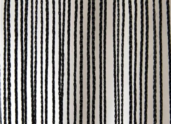Wentex Pipes & Drapes Vorhang Fadenvorhang, 3x3m, 220g/m², schwar