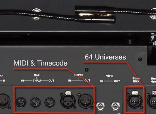 Obsidian M6 Light Mixer, 4 DMX-Universes, ArtNet, i7 Core, Windows 7, 2x  integr  Desk Lamp, incl  Case / Powercon Cable