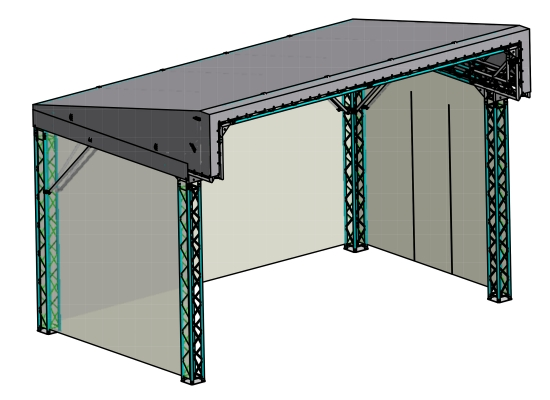 Global Truss Pitch Roof 6x4m Pultdach