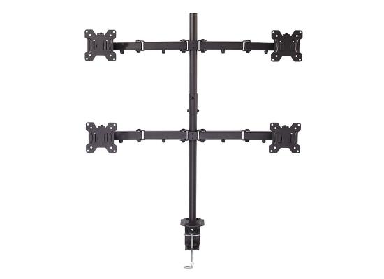 Lindy 40659 Tischhalterung für 4 Monitore 17''-28'', schwarz