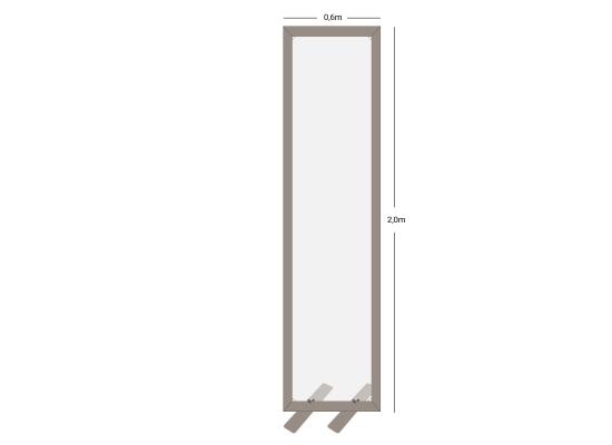 Wentex SF Schutzwand SET, 60x200cm