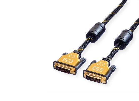 Roline Gold DVI-D DualLink Kabel, 5m