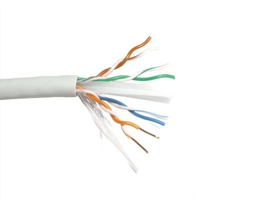 Roline UTP-100M CAT6a Netzwerk Verlegekabel, grau, Draht