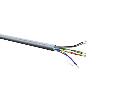 Roline UTP-300M CAT6a Netzwerk Verlegekabel, grau, Draht, LSOH