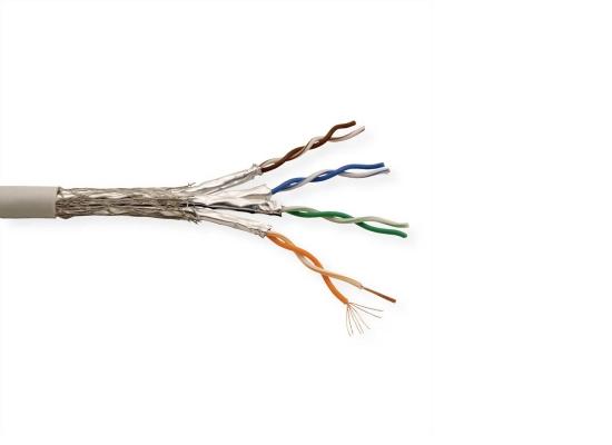 Roline UTP-300M CAT6a Netzwerk Verlegekabel, grau, Litze