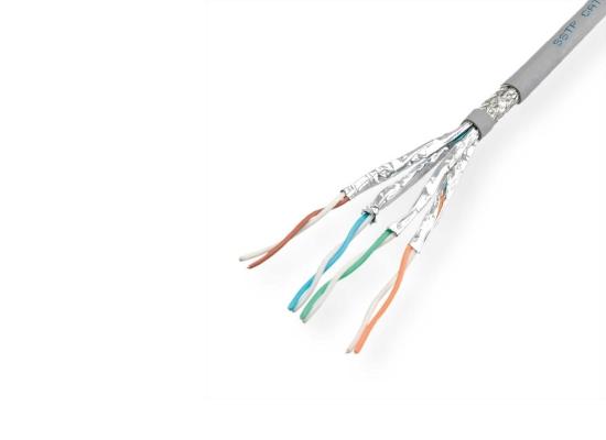 Roline S/FTP(PiMF)-100M CAT6 Netzwerk Verlegekabel, GRAU, Draht