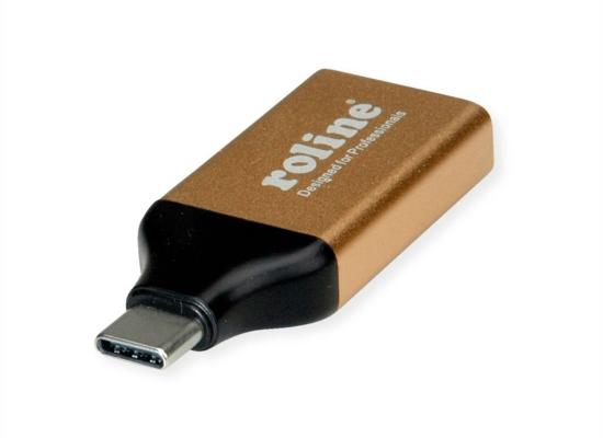 Roline Gold DisplayPort 4K Video-Adapter, USB-C m./DisplayPort f.