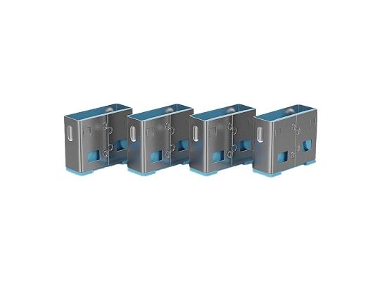 Lindy 40462 USB-A Port Schloss, BLAU, 10x Schloss