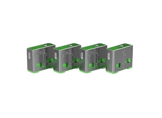 Lindy 40461 USB-A Port Schloss, GRÜN, 10x Schloss
