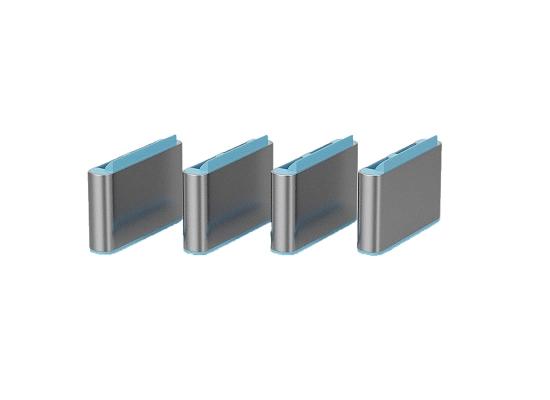 Lindy 40466 USB-C Port Schloss, BLAU, 10x Schloss
