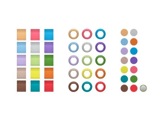 Sennheiser EW-D Farbkennzeichnungsset, Magnetisch