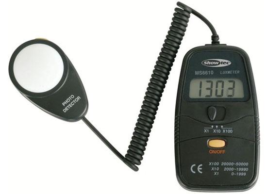 Showtec MS6610 Digital Luxmeter Lichtstärkemessgerät