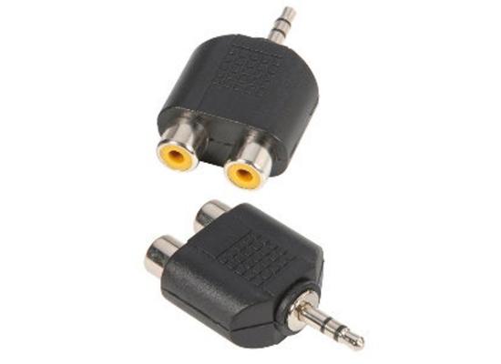 adapter klinkenstecker stereo auf 2x cinch female g nstig online kaufen bei huss licht ton. Black Bedroom Furniture Sets. Home Design Ideas