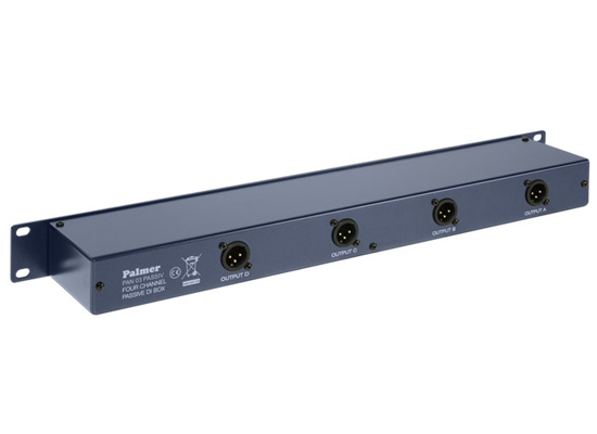 Palmer Pro PAN 03 PASS Passive DI-Box PRO, 4-Channel, 19'', IN: Jack 6 3mm,  OUT:XLR male, Ground Lift